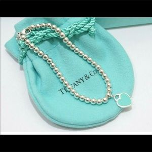 Tiffany&co enamel hearts mini balls bracelet